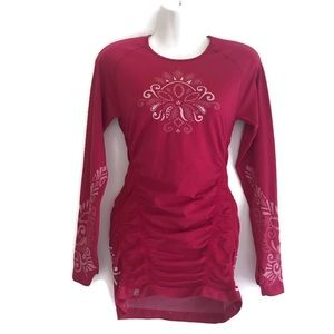 Athleta tattoo twist mini dress magenta size M